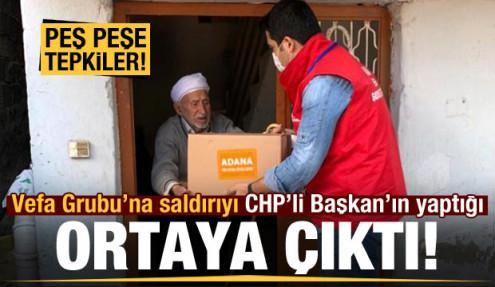 Adana'da Vefa Yardımlaşma Grubu'na saldırıyı CHP'li Başkanın yaptığı ortaya çıktı