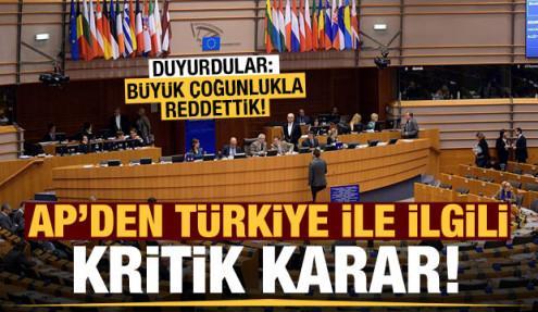 AP'den 'Türkiye' önerisine ret!