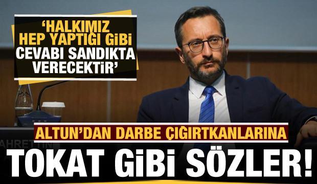 İletişim Başkanı Fahrettin Altun'dan sert açıklama