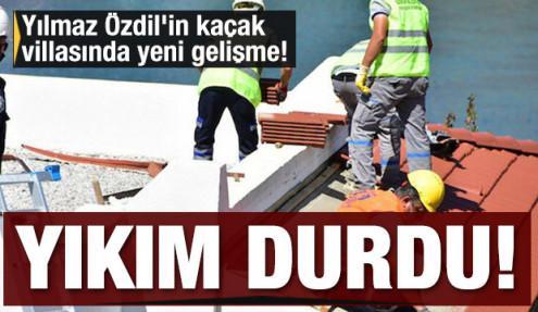 Sözcü gazetesi yazarı Yılmaz Özdil'in kaçak villasında yeni gelişme! Yıkım durdu