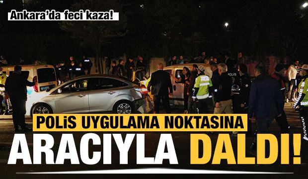 Alkollü sürücü polis uygulama noktasına aracıyla daldı: 5'i polis 7 yaralı