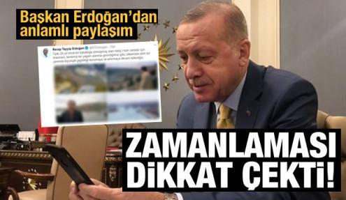 Başkan Erdoğan'dan anlamlı Haliç paylaşımı
