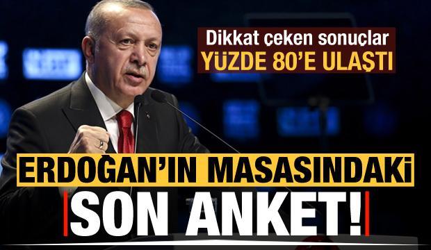 Başkan Erdoğan'ın masasındaki son aket! Dikkat çeken sonuçlar
