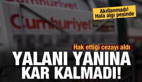 Cumhuriyet Gazetesi hak ettiği cezayı aldı!