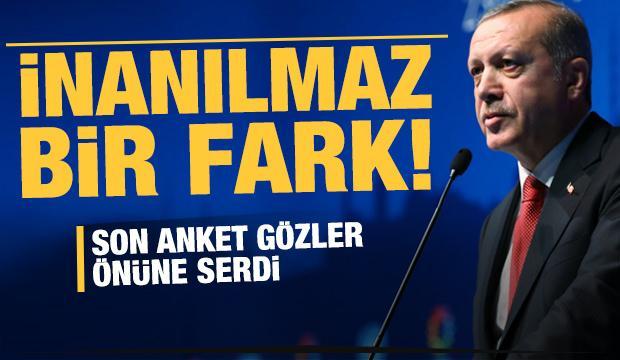 Erdoğan son ankette en yakın rakibine 4 kat fark attı