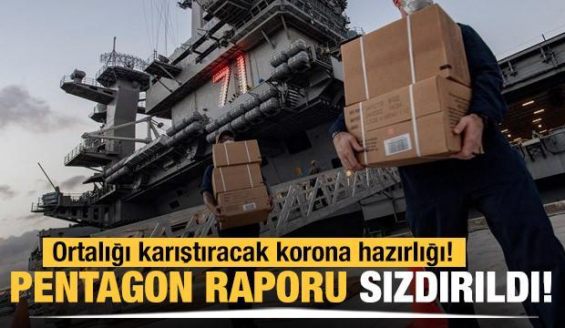 Pentagon'un raporu sızdırıldı! Ortalığı karıştıracak korona hazırlığı