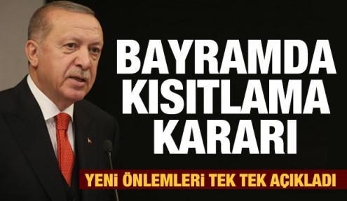 Son dakika haberi: Erdoğan bayram ve seyahat kısıtlaması için kararları duyurdu