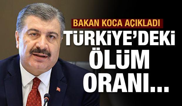 Bakan Koca açıkladı: Türkiye'de ölüm oranı 2,8