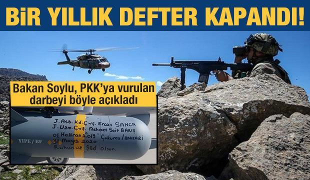 Bakan Soylu açıkladı: PKK'ya bir darbe daha!