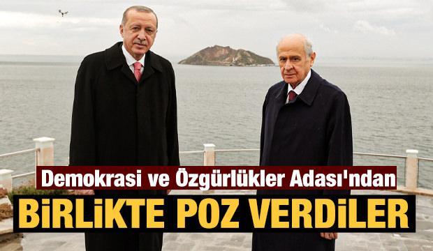 Başkan Erdoğan ve Devlet Bahçeli Demokrasi ve Özgürlükler Adası'nı gezdi