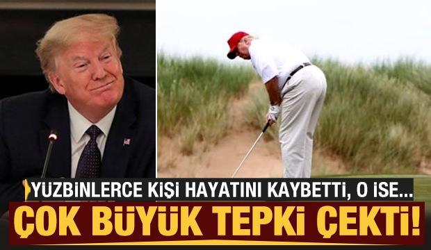 Corona virüs salgını devam ederken Trump golf oynadı!