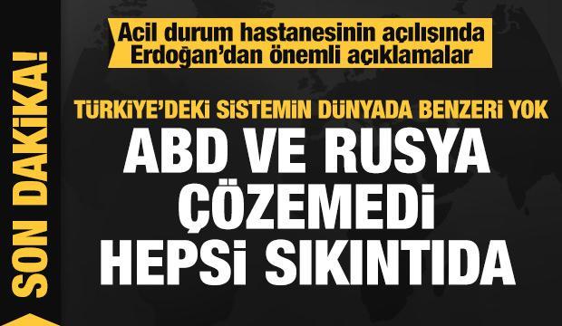 Cumhurbaşkanı Erdoğan: Türkiye'deki sistemin benzeri yok ABD ve Rusya bu işi çözemedi!