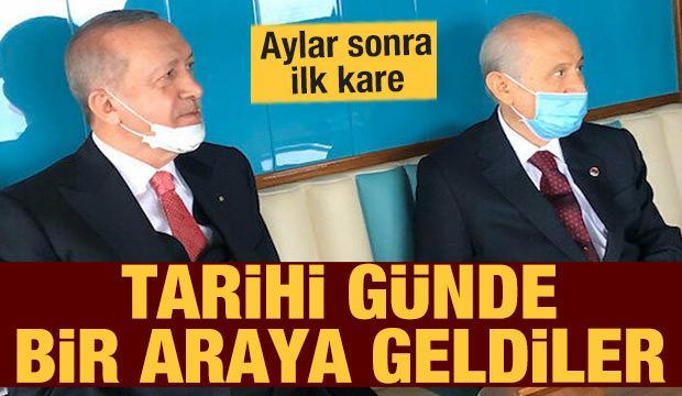 Erdoğan ile Bahçeli aylar sonra Demokrasi ve Özgürlükler Adasının açılışında bir araya geldi