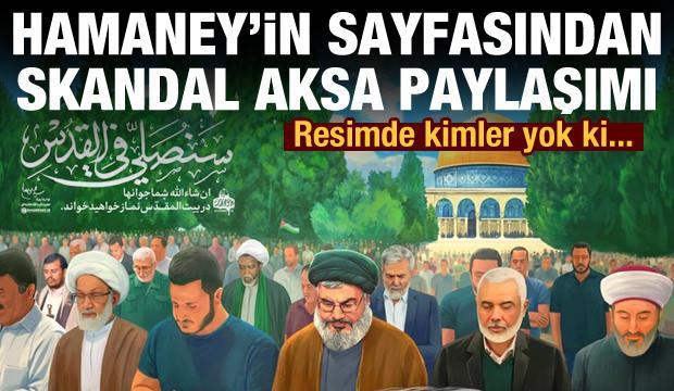 Hamaney'in sayfasından skandal Mescid-i Aksa paylaşımı