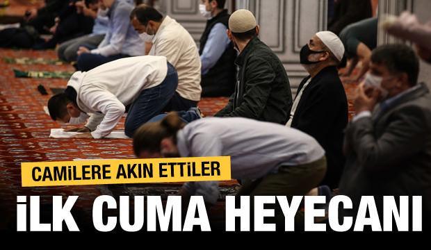 İlk Cuma için vatandaşlar Fatih Camii'ne gelmeye başladı