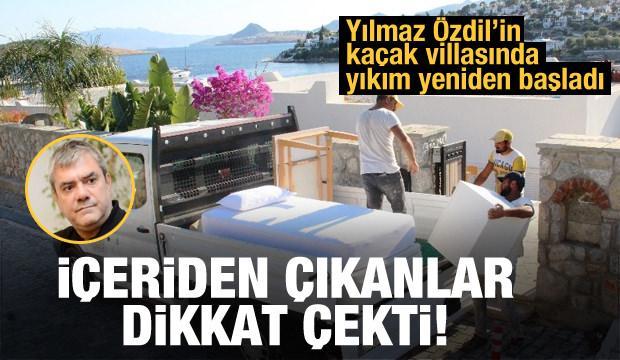 Yılmaz Özdil'in kaçak villasında yıkım başladı! İlginç görüntüler...