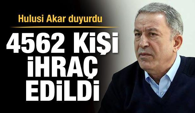 4562 personel TSK'dan ihraç edildi