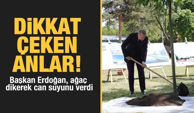 Başkan Erdoğan inşaat çalışmaları devam eden Ankara Millet Bahçesi'nde incelemelerde bulundu