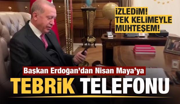 Başkan Erdoğan'dan Nisan Maya Tunçoğlu'na tebrik!