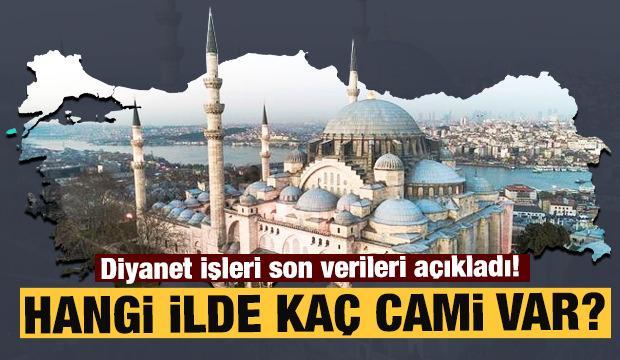Diyanet işleri listeyi yayınladı! İşte il il Türkiye'nin cami sayıları
