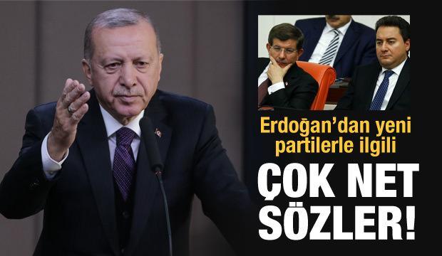 Erdoğan'dan Babacan ve Davutoğlu'nun partileriyle ilgili ilk değerlendirme