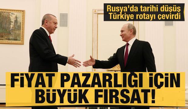 Fiyat pazarlığı için büyük fırsat! Rusya'da tarihi düşüş yaşandı Türkiye rotayı çevirdi