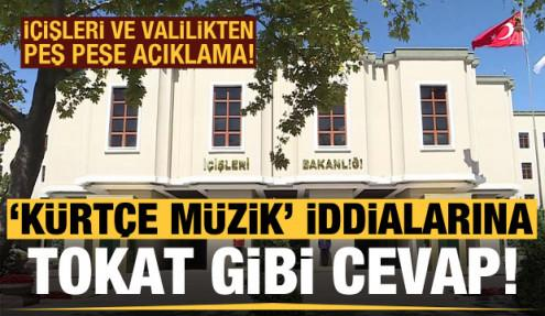 İçişleri'nden 'Kürtçe müzik' iddialarına tokat gibi cevap