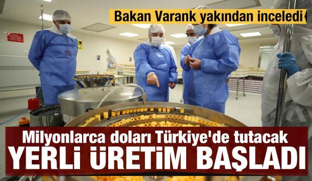 Milyonlarca doları Türkiye'de tutacak yerli üretim başladı