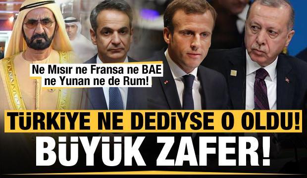Ne Mısır ne Fransa ne BAE ne Yunan ne de Rum! Türkiye'nin dediği oldu...