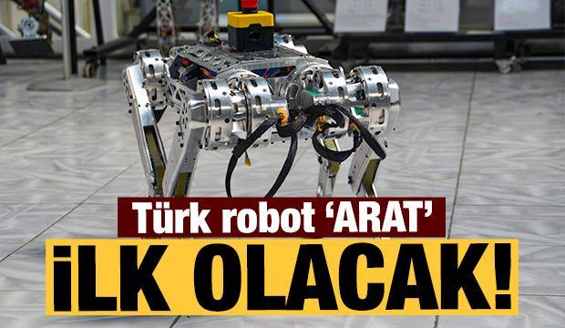 Türk robot 'ARAT'ın hayali uzaya gitmek!