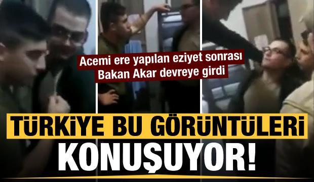Türkiye bu görüntüleri konuşuyor! Acemi askere yapılan eziyet sonrası Bakan Akar devreye girdi