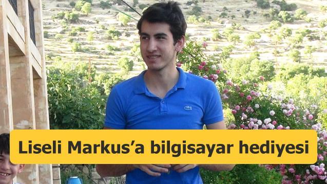 Türkiye'nin konuştuğu Markus'a bilgisayar hediyesi