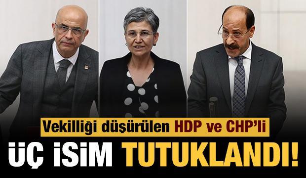 Vekilliği düşürülen HDP ve CHP'li isimler tutuklandı