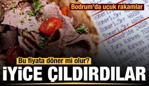 Bodrum'da uçuk fiyatlar: Bir tabak döner 370 lira
