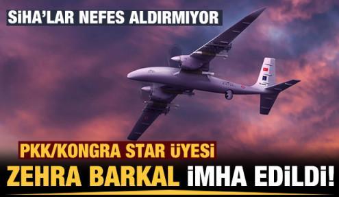 SİHA'lar bombaladı: PKK/Kongra Star üyesi Zehra Barkal imha edildi