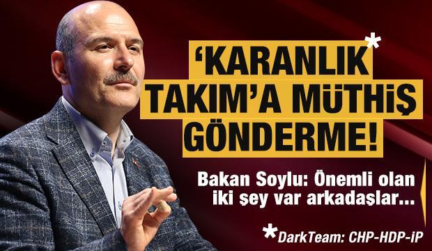 """Bakan Soylu'dan CHP-HDP ve İP'in La Casa De Papel muhabbetine """"Dağ""""lı gönderme"""