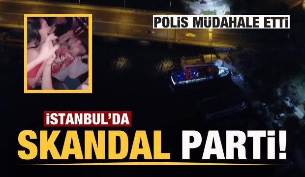 İstanbul Boğazı'nda skandal görüntüler! Polis müdahale etti