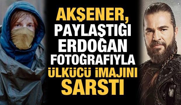 Akşener, paylaştığı Erdoğan fotoğrafıyla ülkücü imajını sarstı