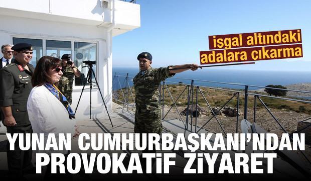 Yunanistan Cumhurbaşkanı'ndan tahrik: Eşek Adası'nı ziyaret etti