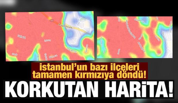 İstanbul'da dehşete düşüren koronavirüs haritası!