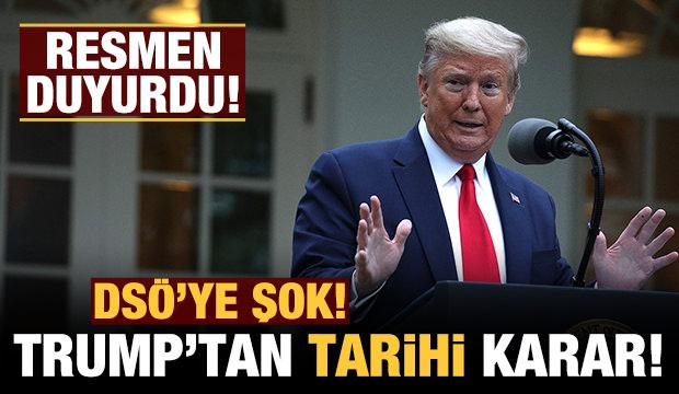 ABD çekildiğini resmen duyurdu: DSÖ'ye şok!