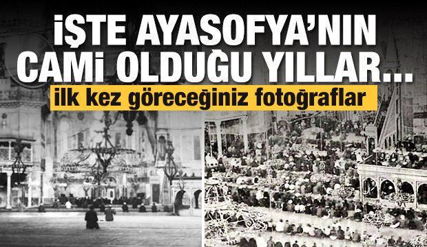 Ayasofya'nın cami olduğu 1904'lü yıllar...