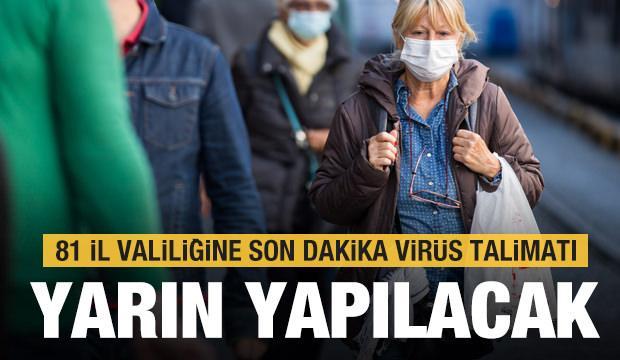 İçişleri Bakanlığı koronavirüs salgınına karşı 81 ilde yeni genelgeyi hayata geçiriyor