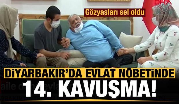 Diyarbakır'da evlat nöbetinde 14. kavuşma! Gözyaşları sel oldu