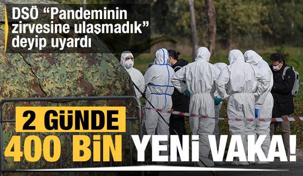DSÖ, 2 günde 400 bin yeni vaka deyip uyardı! 'Pandeminin zirvesine ulaşmadık'