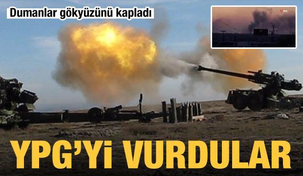 Dumanlar gökyüzünü kapladı! YPG'yi vurdular