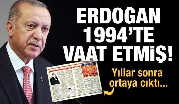 Erdoğan Ayasofya'yı 1994'te vaat etmiş: Yeniden Müslümanların camisi olacak
