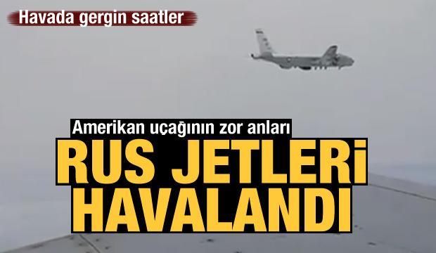 Havada sıcak saatler: İki Rus jetinden Amerikan uçağına müdahale