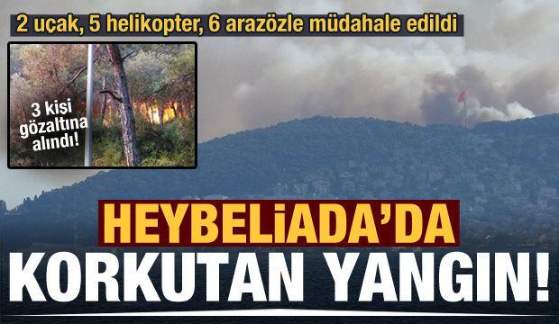 Heybeliada'da korkutan yangın! 3 kişi gözaltına alındı