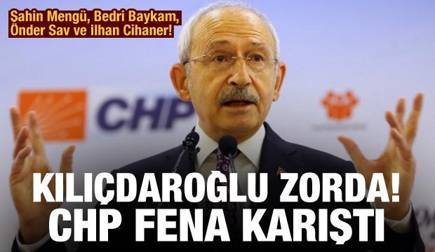 Şahin Mengü, Bedri Baykam, Önder Sav ve İlhan Cihaner! Kılıçdaroğlu zorda! CHP'de fena karıştı